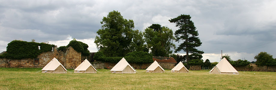 Bell Tents in a Field